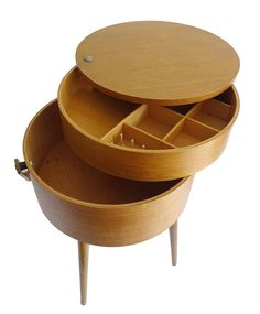 1950s sewing box table storage 60s 70s mid century by ModernicA1