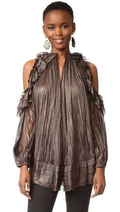 MARIA LUCIA HOHAN Wayan Blouse. #marialuciahohan #cloth #dress #top #shirt #sweater #skirt #beachwear #activewear