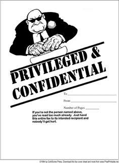 confidential fax cover sheet