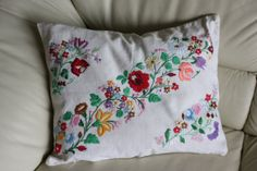 Vintage antique hand embroidered pillowcase by PitzicatVintage, $50.00