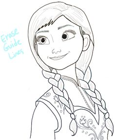 How to Draw Princess Anna from Frozen Step by Step Tutorial