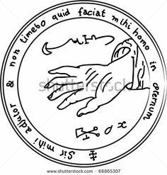 Ancient Occult Symbols   Occult ancient magic symbol. A vector element. - stock vector