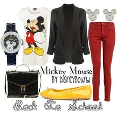 Mickey Mouse-- super cute for me to wear IF we do the mickey themed bday party!