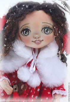 Купить Текстильная кукла Милана. - ярко-красный, кукла ручной работы, кукла, кукла в подарок