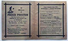 Preston North End memorial postcard 1937 FA Cup final