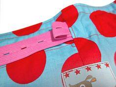 Knopflochgummiband an Kinderhosen nähen -  2 Varianten erklärt