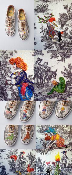 Richard Saja embroidery art.