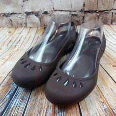 9a75c8c3101097 Crocs Malindi Espresso Brown Slingbacks Shoes Size 9 Tear Drop Ballet Flat   Crocs  BalletFlats