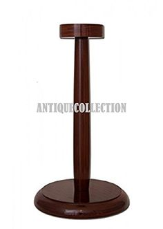 Wooden Display Stand, Medieval Armor, Armour, Helmet, Stool, Dark, Brown, Home Decor, Decoration Home