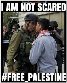 I am not scared. #FreePalestine