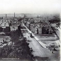 view from Trent Bridge towards Arkwright Street (credit Picture Nottingham) Vintage Photographs, Vintage Photos, Nottingham City, Train Station, Paris Skyline, Bridge, The Past, History, Street