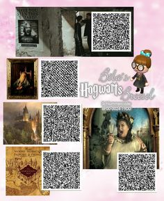 Have you seen this Wizard - Dumbledores Paint - Hogwarts view - Marauders map - Fat Lady - Sirius Fahndungsfoto - Fenster nach Hogwarts - Karte des Herumtreibers - Die fette Dame - Zauberer -Broesel Spiel - A letter from Hogwarts - Harry Potter - Animal Crossing New Leaf - ACNL - QR - Broesel