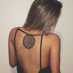 Gorgeous back mandala tat.  #tattooinkspiration