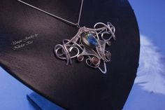 Handmade Silver Plated Wire Labradorite by NikolettKissJewelry