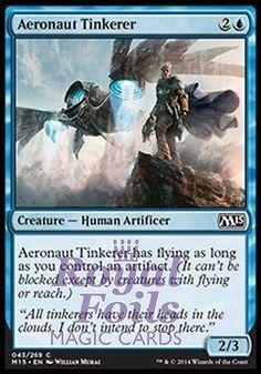 **4x FOIL Aeronaut Tinkerer** MTG M15 Core Set Common MINT blue human artificer