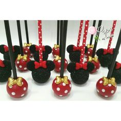 Minnie Mouse Head & Polka Dots Cake Pops