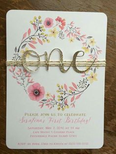 Girl 1st birthday first birthday invitation pink and gold mint first birthday invitation floral birthday invite baby filmwisefo Gallery