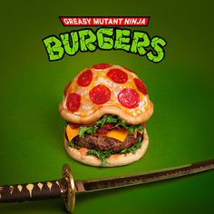 The Pizza Mutant Ninja Burger | 32 Of The Most Creative And Amazing Burgers You'll Ever See