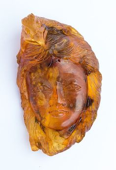 Vintage Genuine Amber Carving Eagle Totem by ClutteryBarn on Etsy