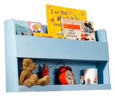 Tidy Books Bunk Bed Buddy in Blue by Tidy Books. $79.00. 777. BBB-B Color: Blue Features: -Your perfect bedside storage for bunk beds.-Wall fixings supplied.-Slimline bedside storage for your children's bunk beds and cabin beds.-Front panels hold your children's books, drinks and alarm clock securely.-Floor saving bedside storage for standard beds too.-Children can personalize with stickers.-Handmade from sustainable wood.-Comes ready - made.-Well constructed and ...