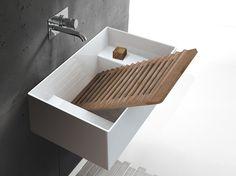 Ceramic washbasin / utility sink Collection By GALASSIA design Antonio Pascale Ada Bathroom, Drop In Bathroom Sinks, Undermount Bathroom Sink, Bathroom Photos, Bathroom Colors, Bathroom Fixtures, Plumbing Fixtures, Bathroom Ideas, Sink Design