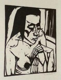 Erich Heckel, woodcut print