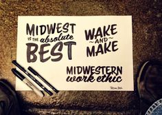 Wake and make Typography Fonts, Hand Lettering, Cool Things To Make, How To Make, Out Of My Mind, True Stories, Signage, Tasty, Cards Against Humanity