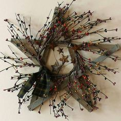 Items similar to Pip Berry and Rustic Wood Star Wreath on Etsy