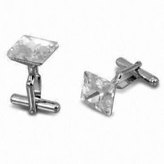 Fashionable Silver Ribbed Cufflinks