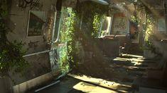 ArtStation - Abandoned Train, Tuna Unalan