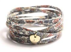 Gold charm bracelet liberty wrap bracelet ONE by simplyyoujewelry, $24.00