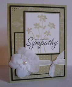 Heartfelt Sympathy using Stampin Up Close as a Memory