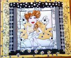 MUG-RUG-HOT-MAT-LADY-READING-LORALIES-BEE-HAPPY-PANEL-SQUARE-PIECED-QUILTED