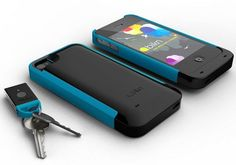 Here's a little bit of genius. The phone finds your keys and your keys find your phone.