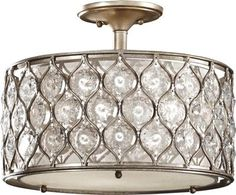 Semi-flush mount light by Murray Feiss. Perfect for rooms with low ceilings that cannot house a chandelier.