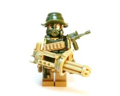 Military Army Green Boonie Soldier Custom made of LEGO and Custom Pieces by BrickEclipse