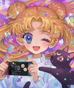 Sailor Moon Girls, Arte Sailor Moon, Sailor Moom, Sailor Moon Fan Art, Sailor Moon Character, Sailor Moon Usagi, Sailor Moon Crystal, Cute Kawaii Drawings, Kawaii Art