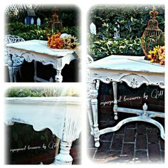Https://repurposedbyM.Etsy.com  #paintedfurniture #chalk #paint #forsale #chair #upcycled #repurposed #shabby #chic #cottage #french country  #readytosell #furniture  #decorating #interior #design #followme    Https://repurposedbyM.Etsy.com  #paintedfurniture #chalk #paint #forsale #shabby #chic #cottage #french country  #readytosell #furniture  #decorating #interior #design #followme     Antique side table  Https://repurposedbym.etsy.com