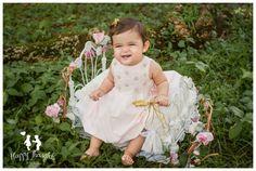 Princess baby in beautiful garden Baby Photography
