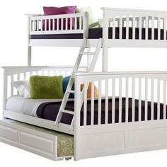 twin over queen bunk beds | bunk beds twin over full wood white over full