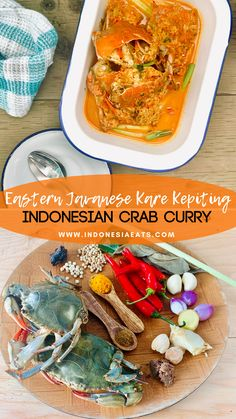 Kare Kepiting ala Jawa Timur or Eastern Javanese Crab Curry is such a memorable dish of my childhood growing up in Sidoarjo, suburban city of Surabaya. Shellfish Recipes, Crab Recipes, Asian Recipes, Ethnic Recipes, Seafood Dishes, Fish And Seafood, Javanese Recipe, Fresh Turmeric, Fish Pie
