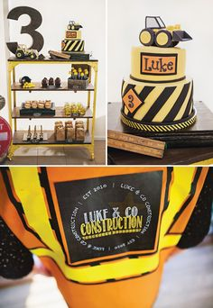 Vintage Style Construction Birthday Party {Black & Yellow}