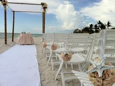 Beach wedding #chuppah #starfish #southfloridawedding