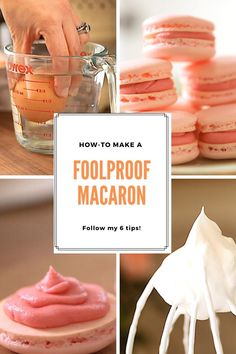 Are you tired of failed attempts at mastering the French Macaron? Follow my easy tips to French Macaron sucess complete with troubleshooting guide! Easy Macaroons Recipe, French Macaroon Recipes, Homemade Macarons, French Macaron, Macaron Recipe, Macaron Filling, Macaron Flavors, Baking Recipes, Cookie Recipes