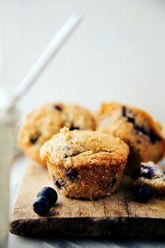 {Secret Ingredient} Greek Yogurt Blueberry Muffins