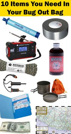 Top 10 Bug Out Bag List Emergency Essentials You Don't Want To Be Without