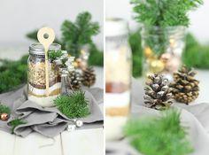 Geschenk DIY mit Mason Jars - Backmischung im Glas