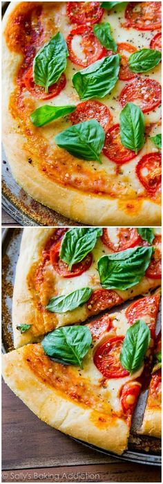 Sometimes you just can't beat fresh, simple, and classic Margherita Pizza. This homemade pizza recipe hits the spot and is so easy to make!