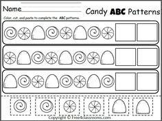free winter patterns cut and paste worksheet teacher ideas pinterest worksheets pattern. Black Bedroom Furniture Sets. Home Design Ideas