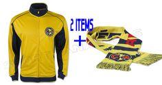 6da9d1fe50d Club America Jacket Track Soccer + Scarf Bar Winter set 2 items  Rhinox   Amrica